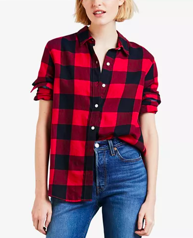 Levi's Boyfriend Button-Detail Shirt