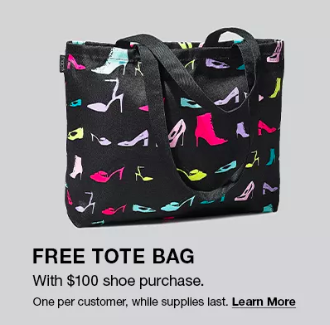 macys free tote bag shoe sale