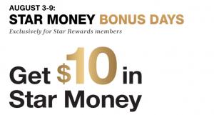 macys star money bonus days august 2020