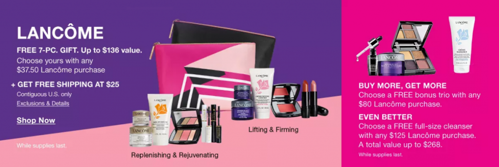 Don't Miss Your Free Lancôme Gift Set