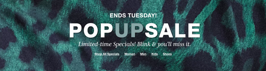 Macy's Pop-Up Sale