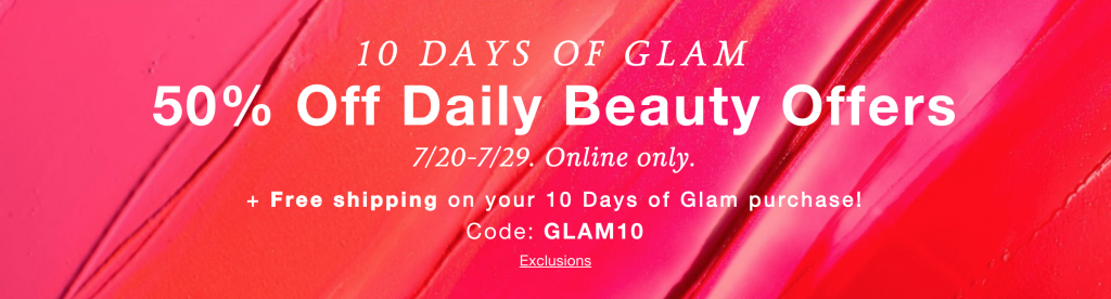 10 Days of Glam Daily Beauty Deal