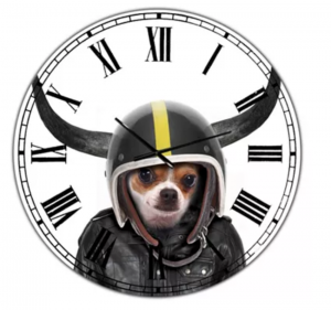 Designart - Little Dog with Attitude Large Modern Wall Clock