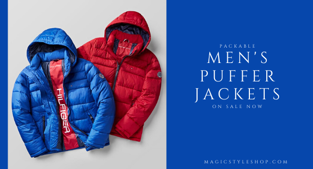 Packable Men's Puffer Jackets on sale