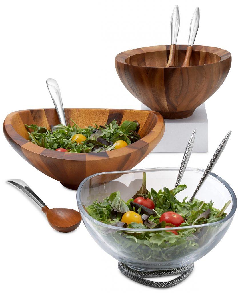 nambe salad bowls