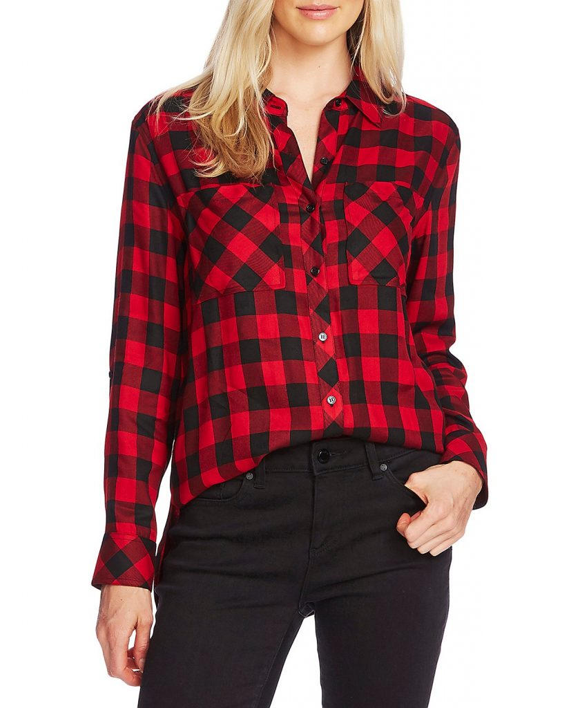 womens buffalo plaid shirt