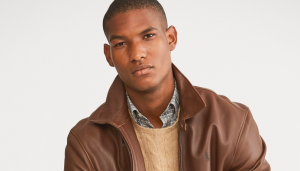macys mens leather wool jacket sale