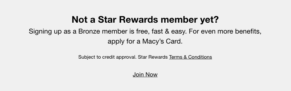 Macys Star Rewards sign up