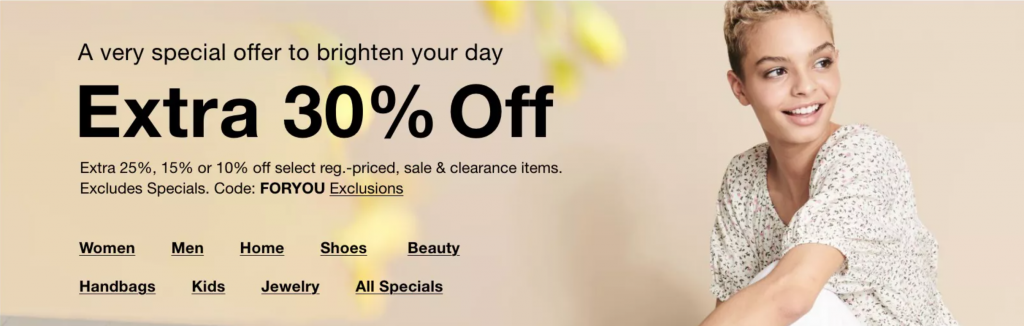Take 30% Off Just For YOU!