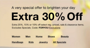 Take 30% Off Just For You