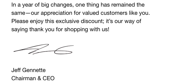 macys ceo thank you sale