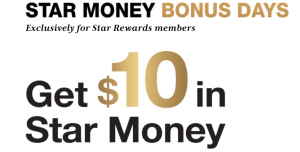 macys star money bonus days